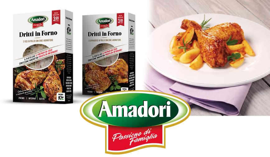 """Per il lancio di """"Dritti in Forno"""" Amadori sceglie un packaging ECO interamente realizzato in HT Board"""