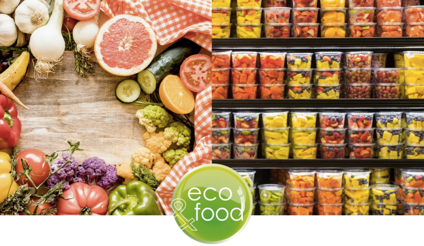 Packaging alimentare ecologico per Frutta e verdura pronta all'uso